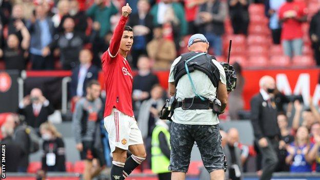 Cristiano Ronaldo, Manchester United, post-match thumbs up
