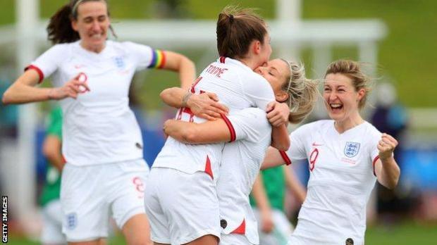 Ella Toone celebrates scoring on her debut