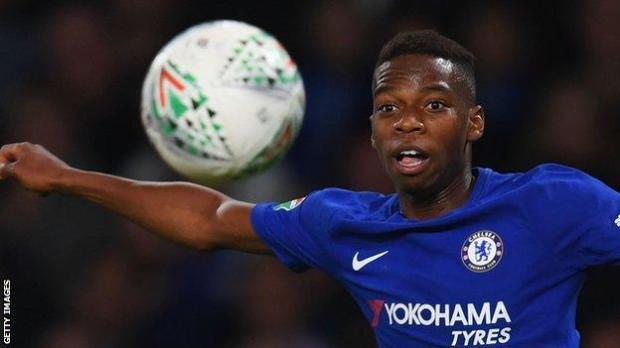 Charly Musonda playing for Chelsea