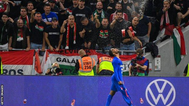 , Hungary to play matches behind closed doors after racist behaviour of fans at England game, The Evepost BBC News