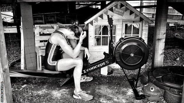 helen glover training at home