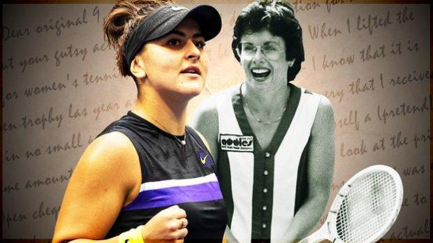 Bianca Andreescu and Billie Jean King