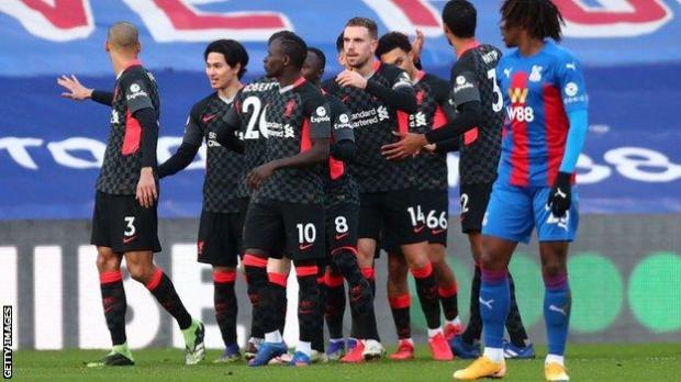 Liverpool celebrate 7-0 win