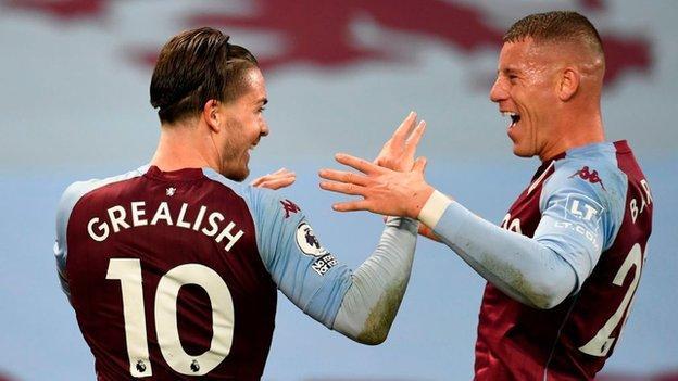 Aston Villa's Jack Grealish and Ross Barkley