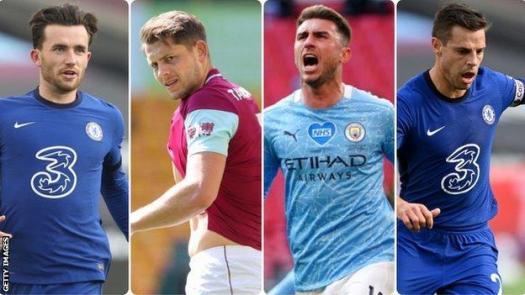 Ben Chilwell (Chelsea), James Tarkowski (Burnley), Aymeric Laporte (Manchester City), Cesar Azpilicueta (Chelsea)