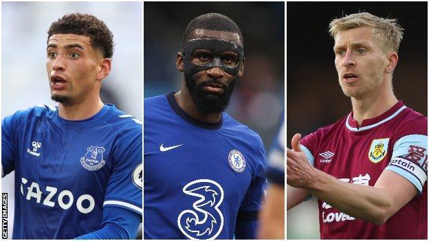 Ben Godfrey (Everton), Antonio Rudiger (Chelsea), Ben Mee (Burnley)