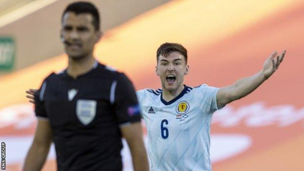 Scotland's left centre-back surged up and down the pitch like a winger, and was a regular threat