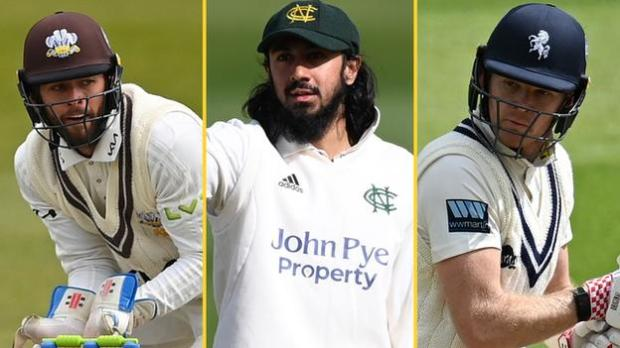 A split image of England players Ben Foakes (left), Haseeb Hameed (centre) and Sam Billings (right)