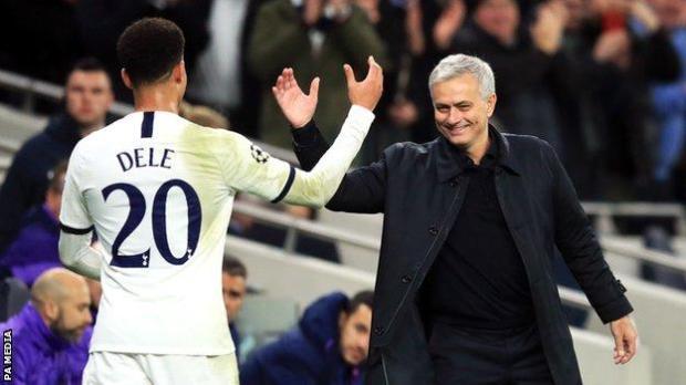 Dele Alli (left) and Jose Mourinho