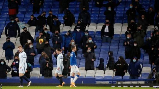 Fans were allowed back into Chelsea's game at Everton on Saturday, as Merseyside is in tier two