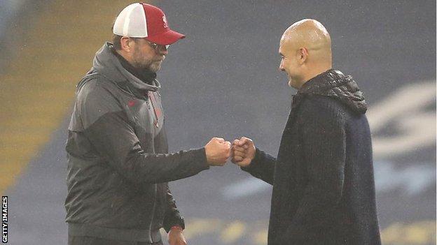 Pep Guardiola and Jurgen Klopp