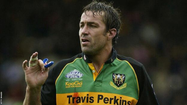 Former South Africa captain Corne Krige during his time at English club Northampton Saints
