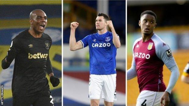 Angelo Ogbonna (West Ham), Michael Keane (Everton), Ezri Konsa (Aston Villa)