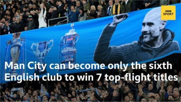Manchester City can become only the sixth English club to win seven top-flight titles