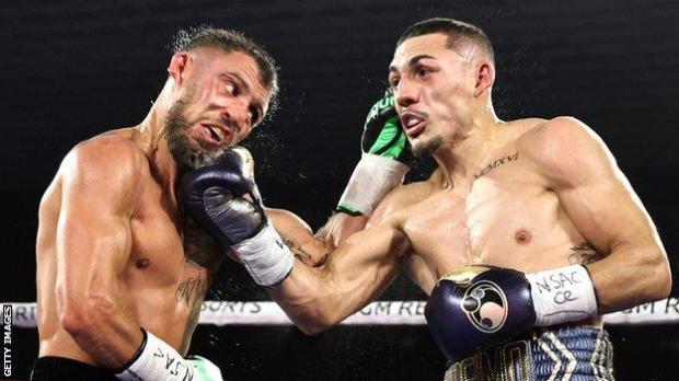 Teofimo Lopez (right) beat Vasyl Lomachenko in Las Vegas