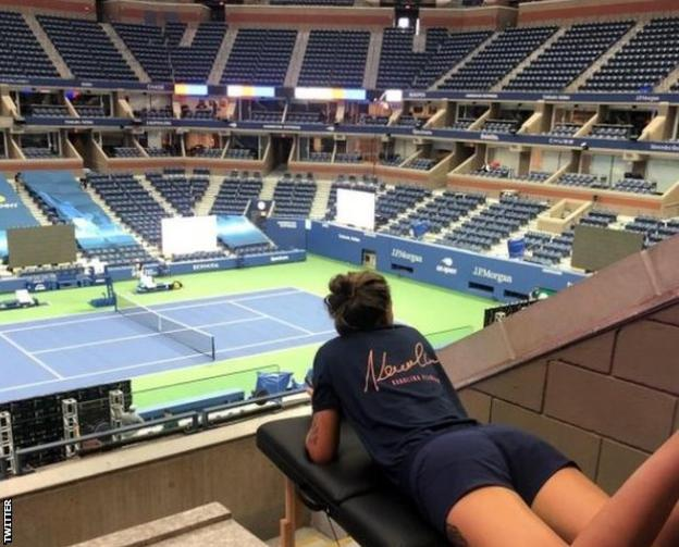 Czech top seed Karolina Pliskova has a private player lounge on Arthur Ashe Stadium