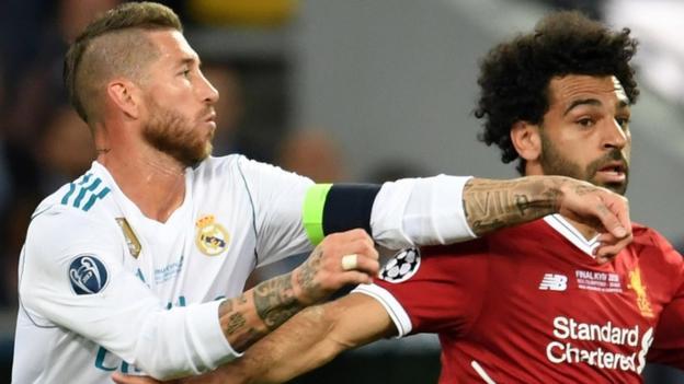 Sergio Ramos Mohamed Salah arm grab led to shoulder injury  BBC Sport
