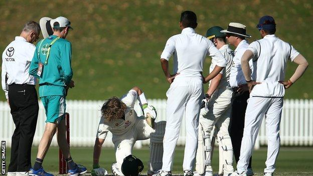, Australia batter Pucovski suffers 10th concussion, The Evepost BBC News