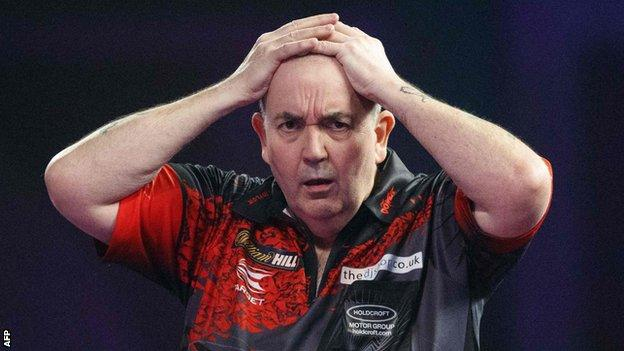 Phil Taylor could only win two sets in his final appearance
