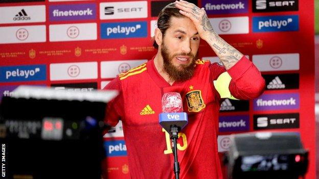 Ramos said he suffered the injury while on international duty with Spain