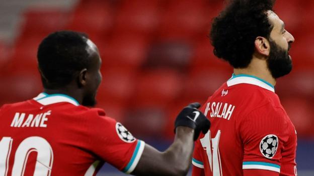 Sadio Mane and Mo Salah