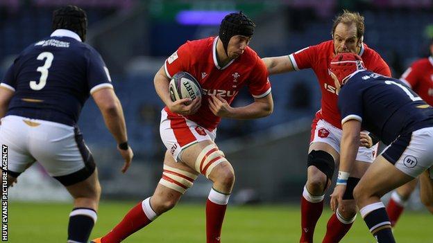 Adam Beard in action against Scotland