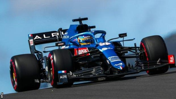 Fernando Alonso on track