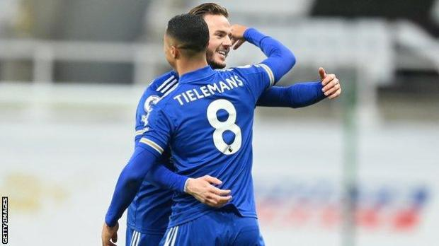 Youri Tielemans and James Maddison.