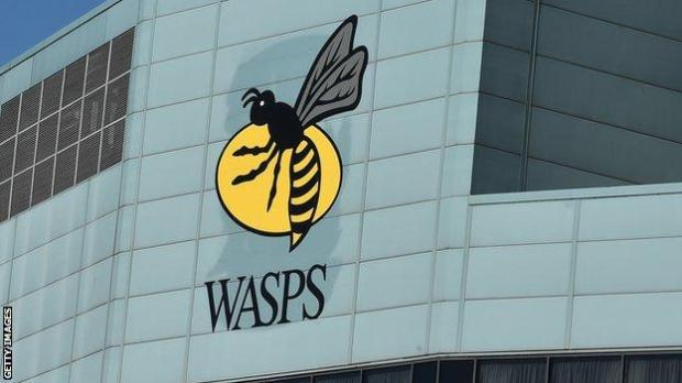 Wasps sign at stadium