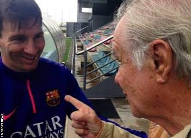 Evaristo and Messi