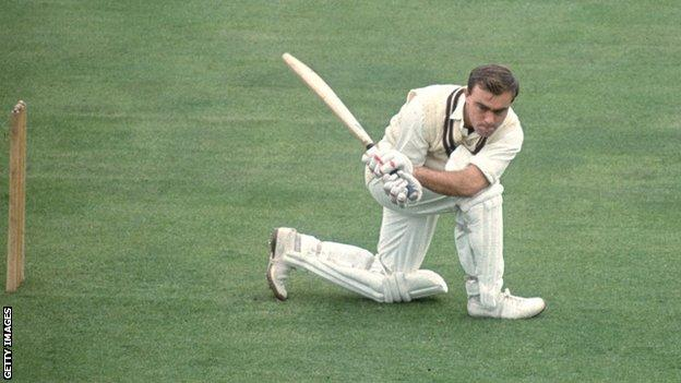 John Edrich made his 100th first-class century, against Derbyshire at The Oval