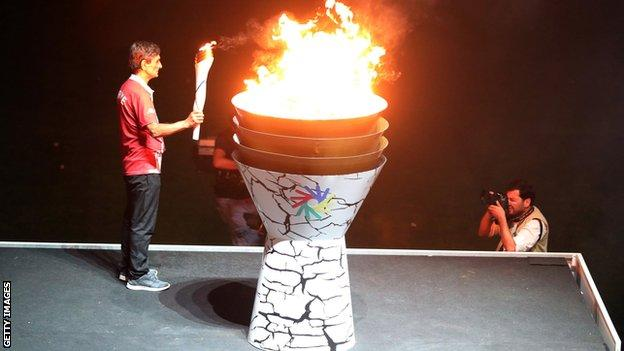 The opening ceremony of the 2017 Deaflympics in Turkey