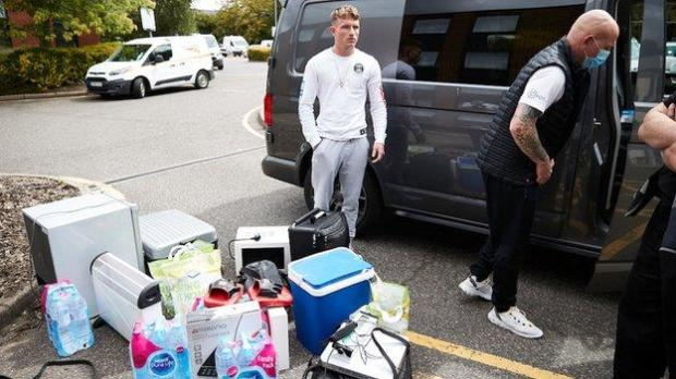 Dalton Smith arrived with his fridge, microwave, heater and essentials in readiness for almost a week in the fight 'bubble'