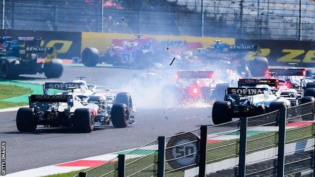 Crash at Tuscan Grand Prix