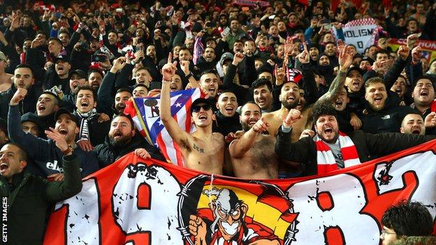 Atletico Madrid supporters