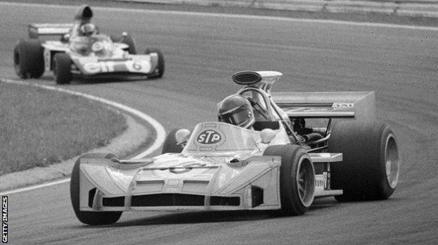 Mike Beuttler racing at the 1973 Swedish Grand Prix, where he finished eighth