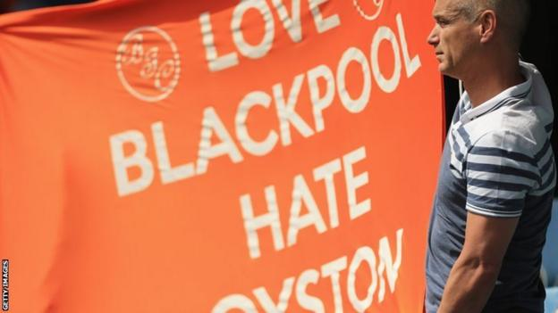 Oyston out banner
