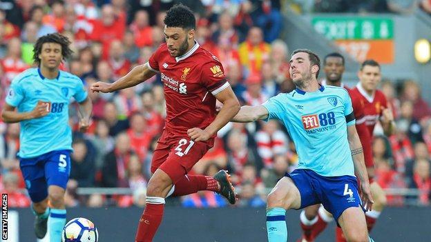Liverpool midfielder Alex Oxlade-Chamberlain