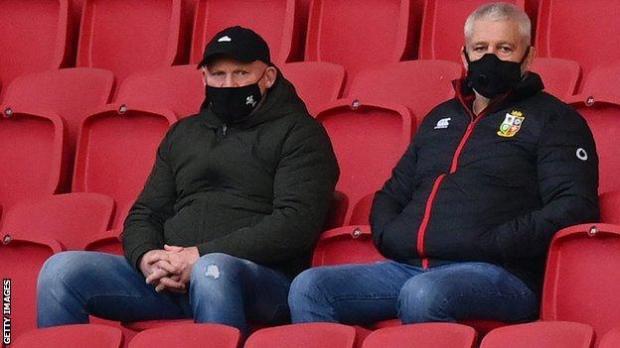 Neil Jenkins and Warren Gatland watch Bristol v Exeter