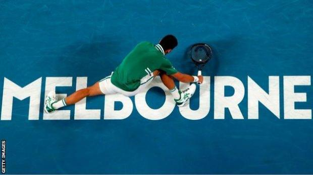 """Novak Djokovic called his third-round victory over Taylor Fritz """"one of the most special wins in my life"""" after he sustained a stomach injury when he slipped over"""