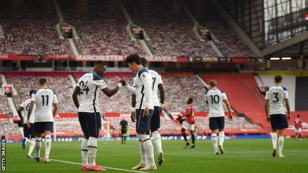 Spurs celebrate goal