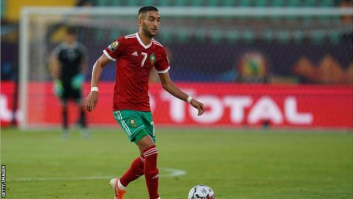 Chelsea's Hakim Ziyech scored two goals in Morocco's win over Central African Republic