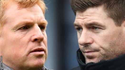 Celtic boss Neil Lennon and Rangers counterpart Steven Gerrard