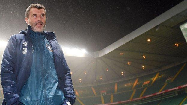 Roy Keane at Celtic Park