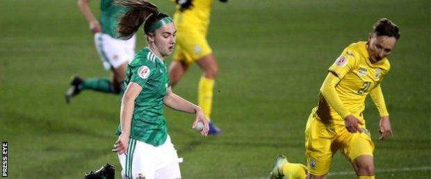 Chloe McCarron replaced the injured Rachel Furness in the first leg in Ukraine