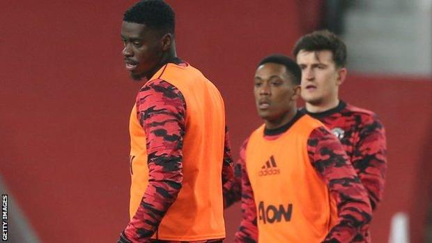 Axel Tuanzebe and Anthony Martial