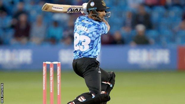 Sussex's Ravi Bopara was one of Essex's star turns in their T20 Blast Finals Day triumph at Edgbaston in 2019