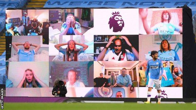 Manchester City fan wall