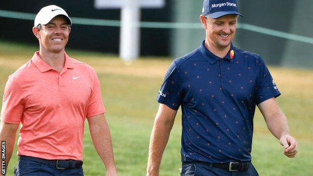 Rory McIlroy and Justin Rose