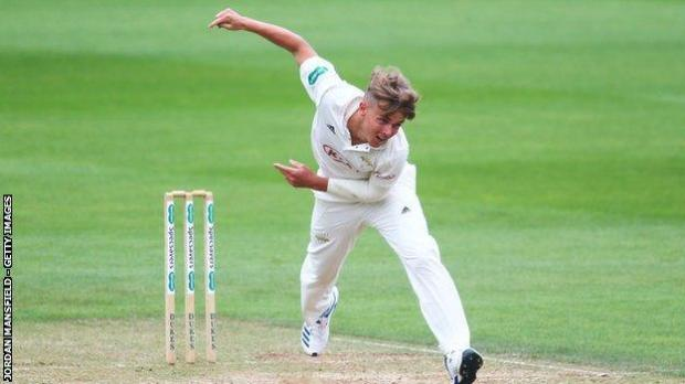 Sam Curran took three wickets on his return for Surrey a year and a day since his last appearance for the county